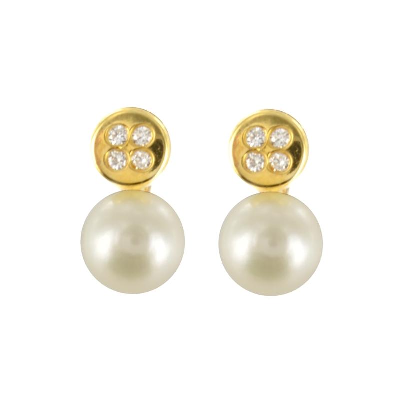 Pendientes Oro Amarillo 18K perlas 5mm – Comunión