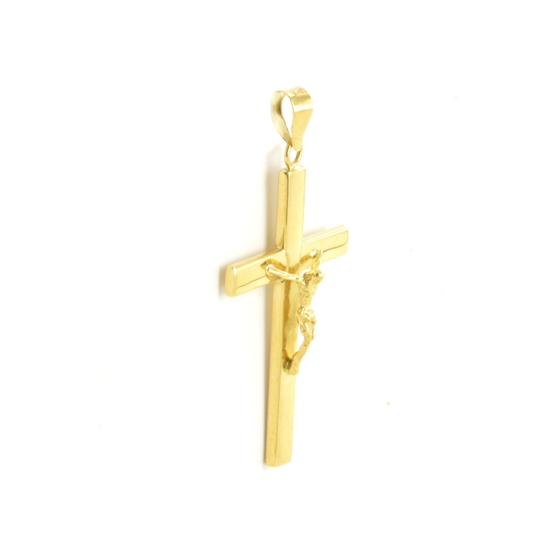 Cruz lisa plana con Cristo 31 X 18