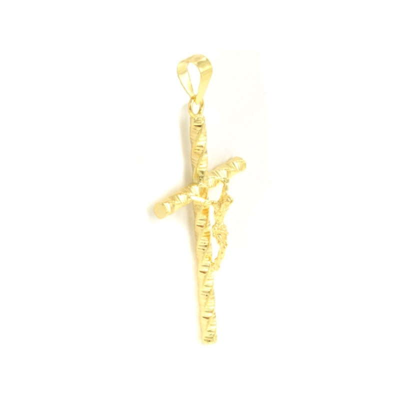 Cruz trenzada con Cristo 32 X 17 MM.