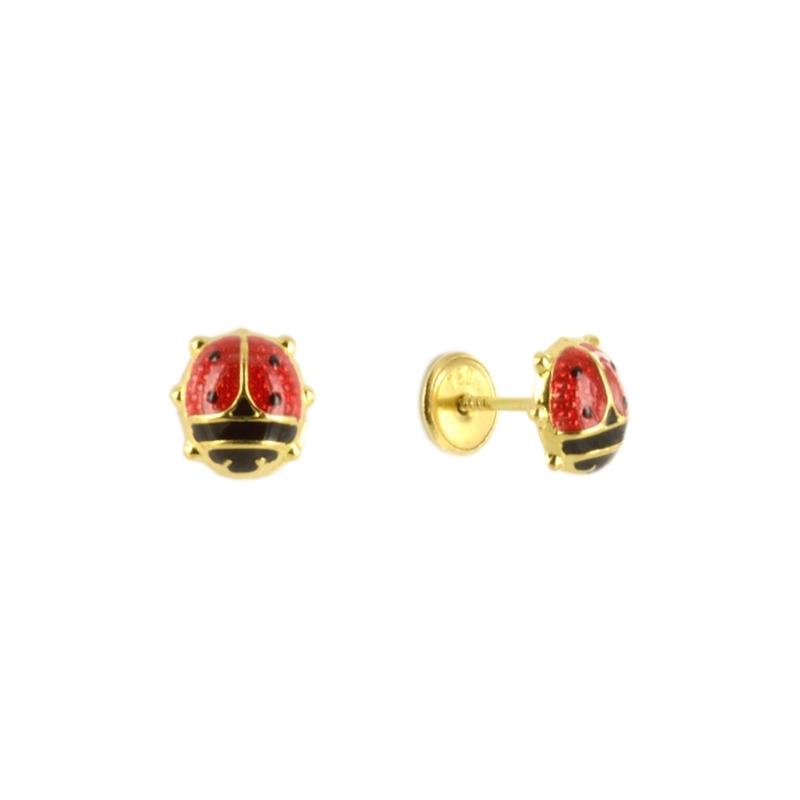 61b5fb503da8 Pendientes de Oro Mariquitas esmaltadas