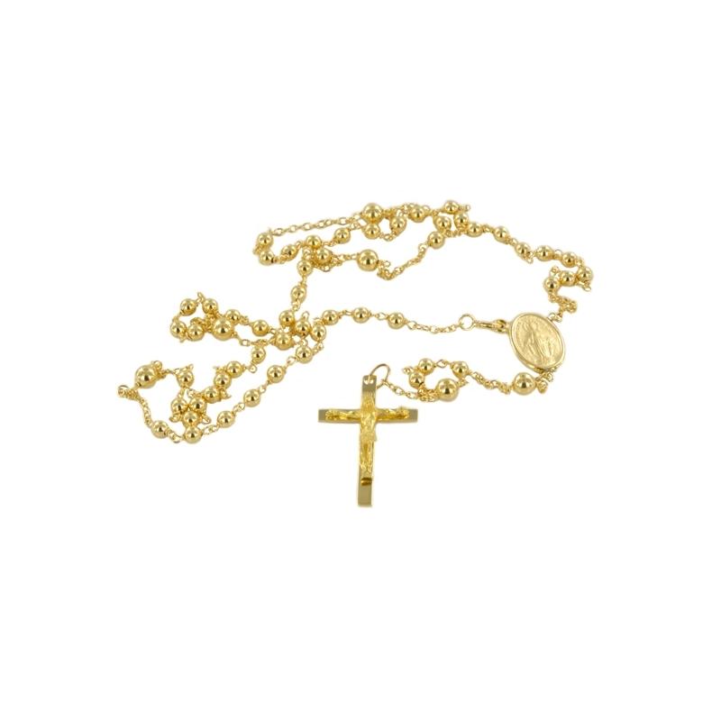 Rosario de Oro con Cruz y Cristo, y Virgen