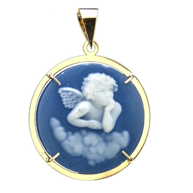 Colgante de Oro camafeo ángel