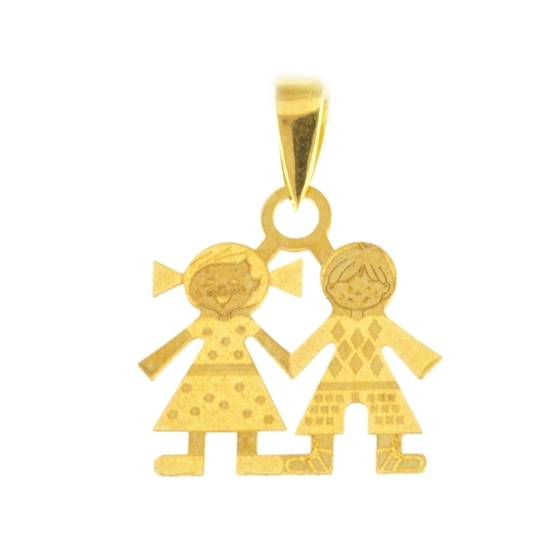 Colgante oro niños