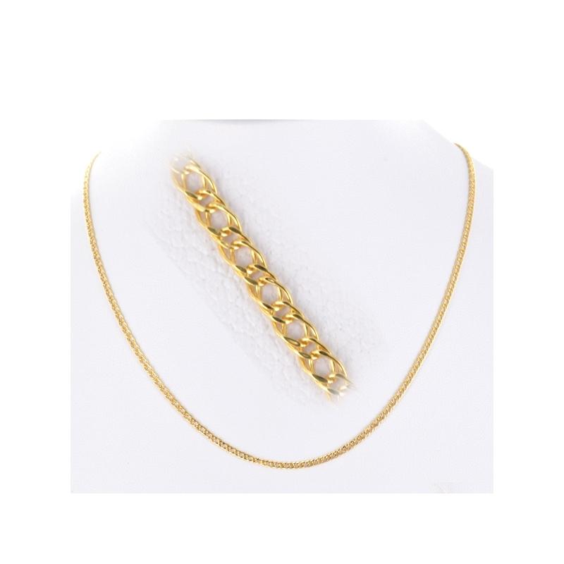 Cadena oro doble Barbada 45 cm