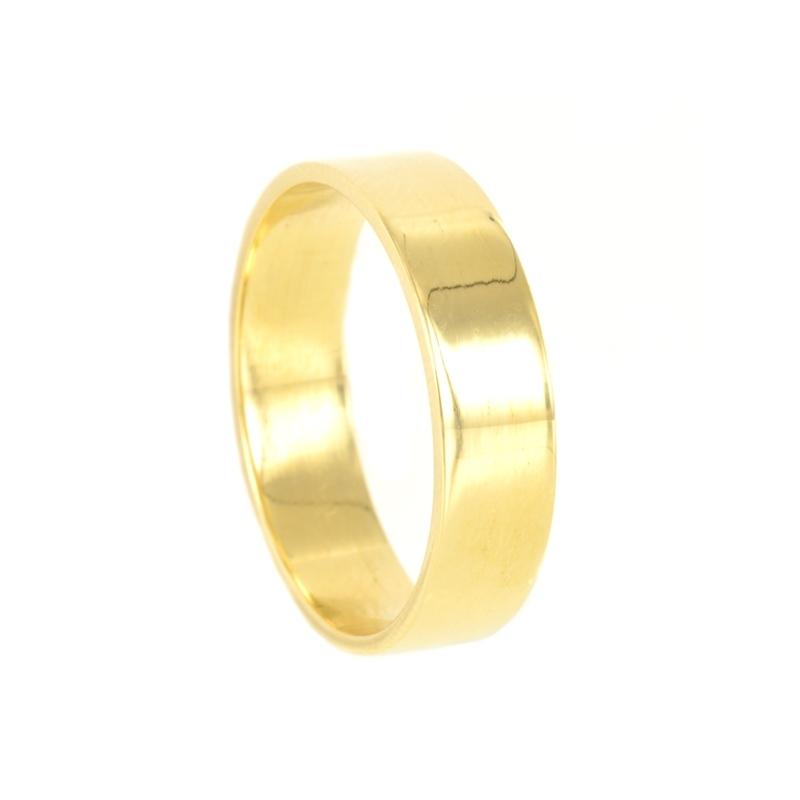 Alianza oro 5 mm. Lisa plana