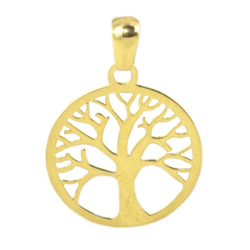 Colgante oro amarillo árbol de la vida