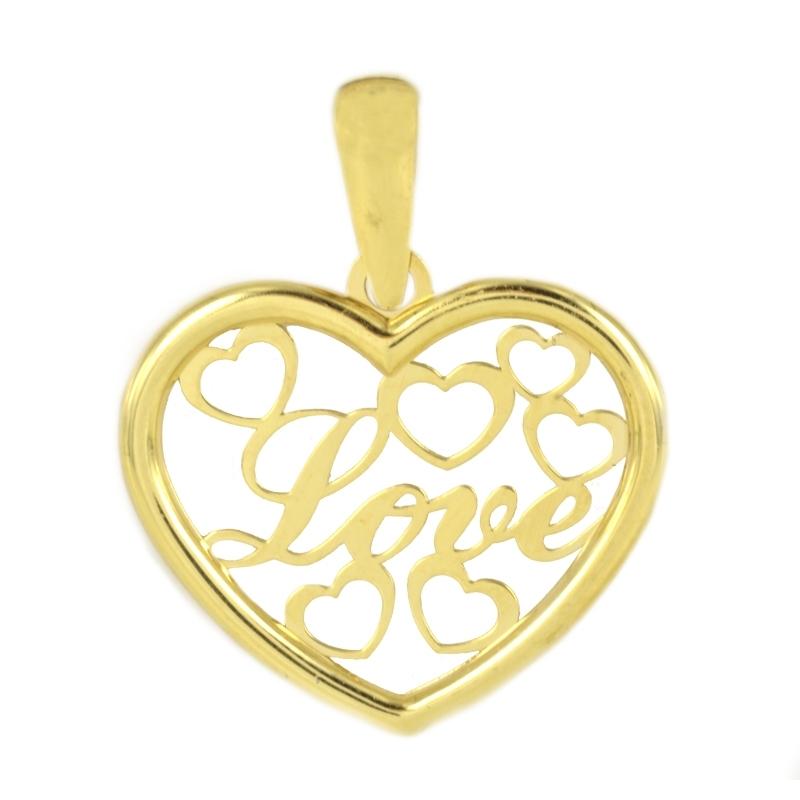 Colgante love con corazones