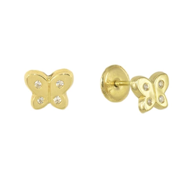 Pendientes mariposa con circonitas