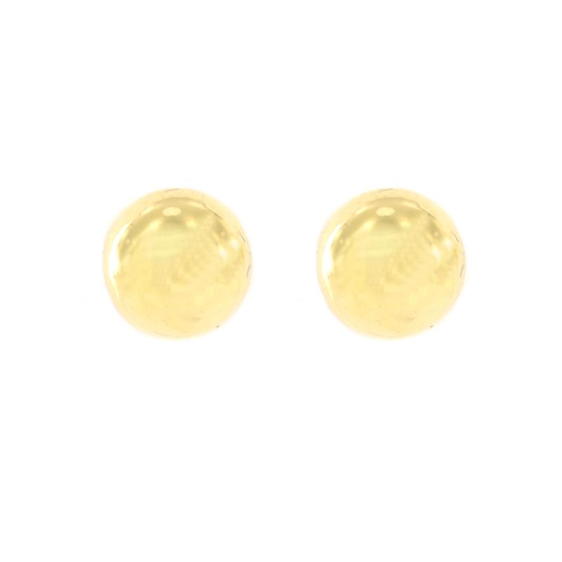 Pendientes oro bola