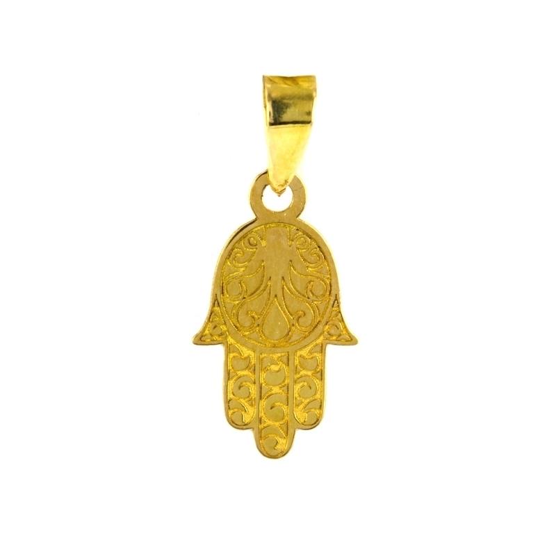Colgante de oro mano de Fátima