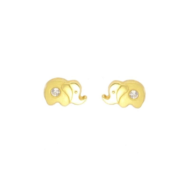 Pendientes oro con circonitas