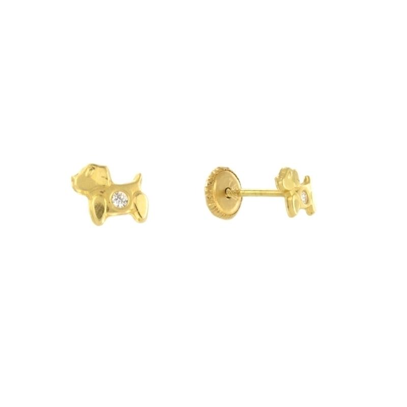 Pendientes oro con circonita
