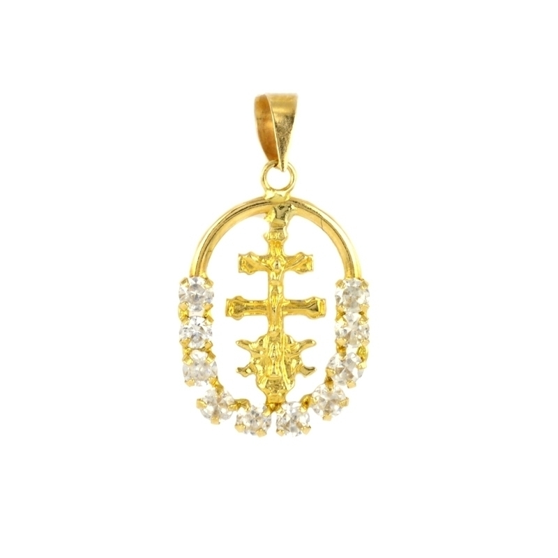 Colgante oro 18K cruz caravaca