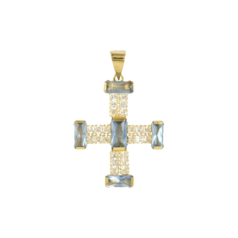 Cruz oro 18K circonitas