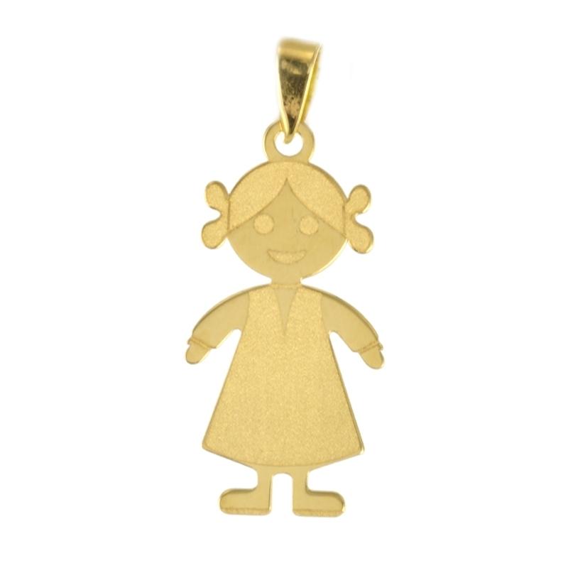 Colgante oro Liso Niña