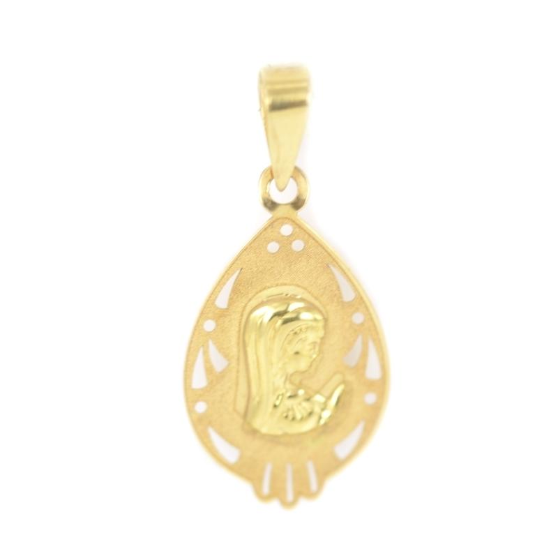 Colgante oro Virgen niña
