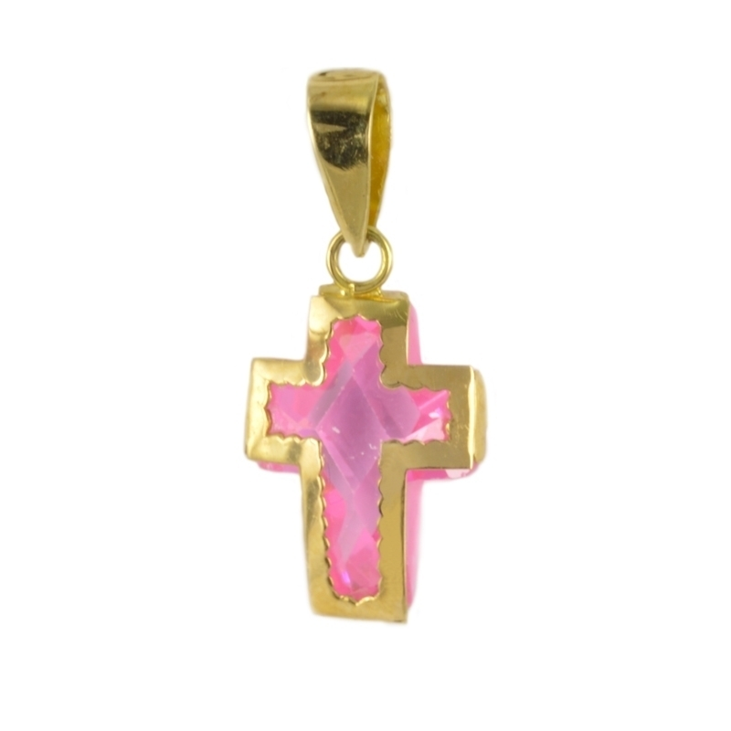 Cruz con circonita