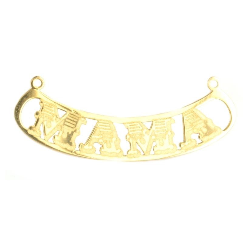 Colgante oro con nombre