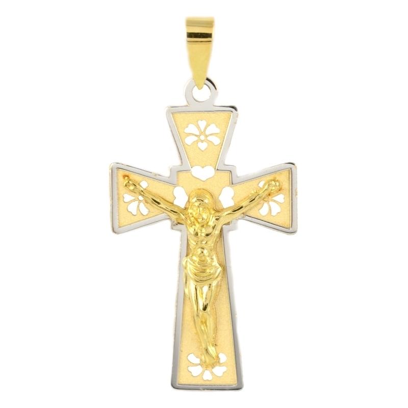Cruz oro Bicolor 18K