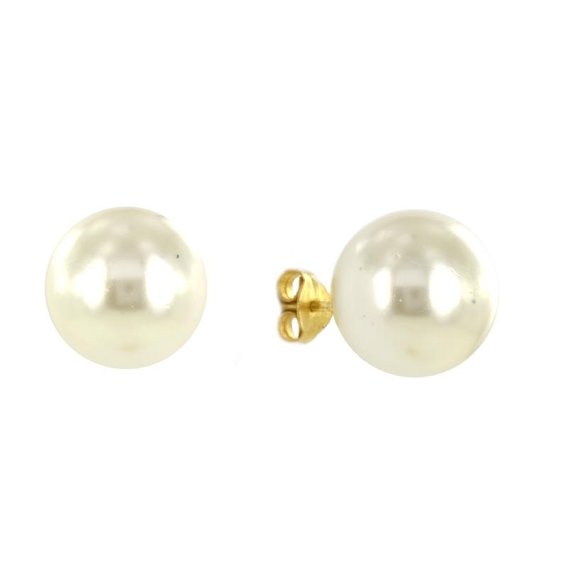 Pendientes oro Perla 12 mm.