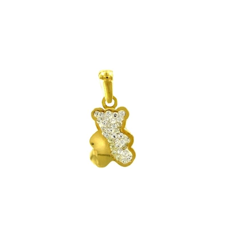 Colgante oro Peluche multipiedra
