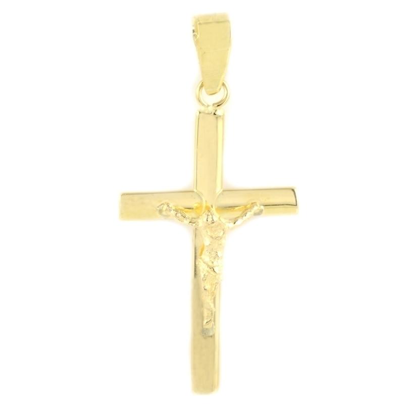 Cruz oro con cristo