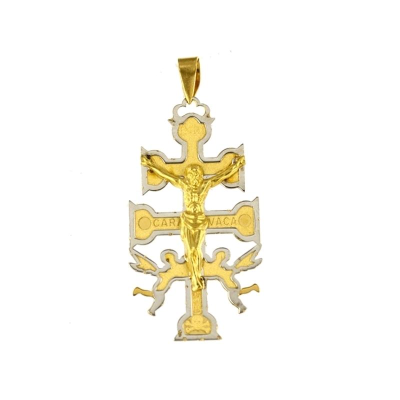 Cruz de oro Caravaca bicolor