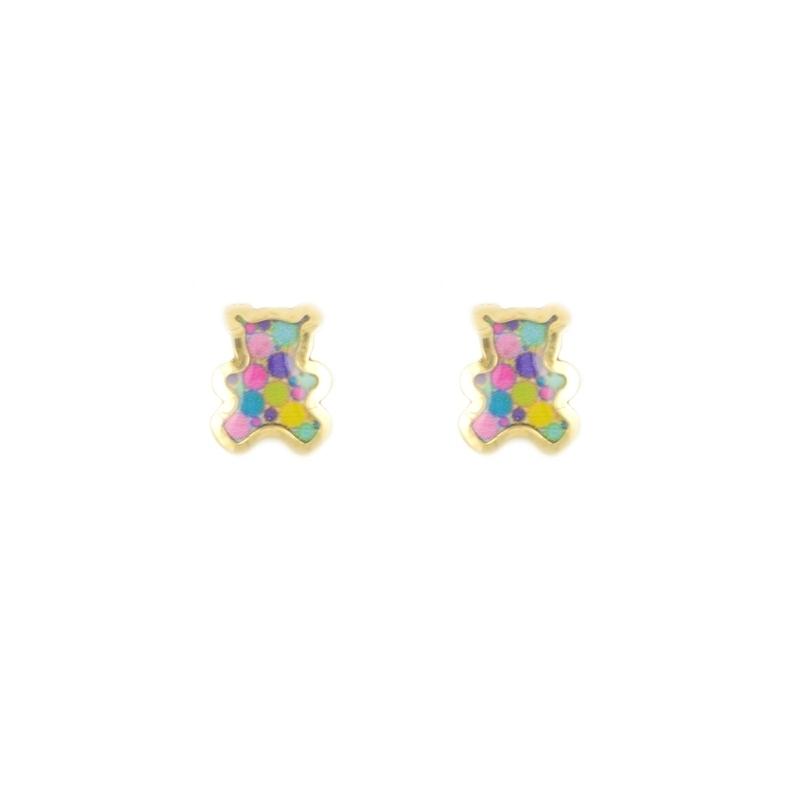 Pendientes oro 18K esmaltados