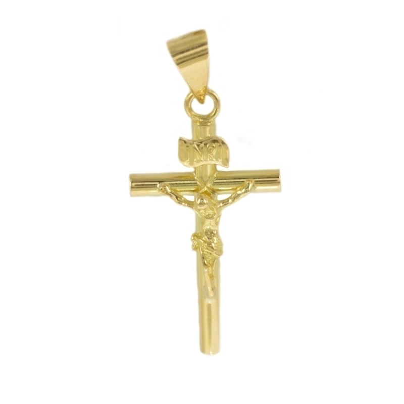 Cruz de oro con Cristo