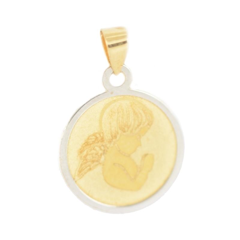 Medalla oro Bicolor 18K