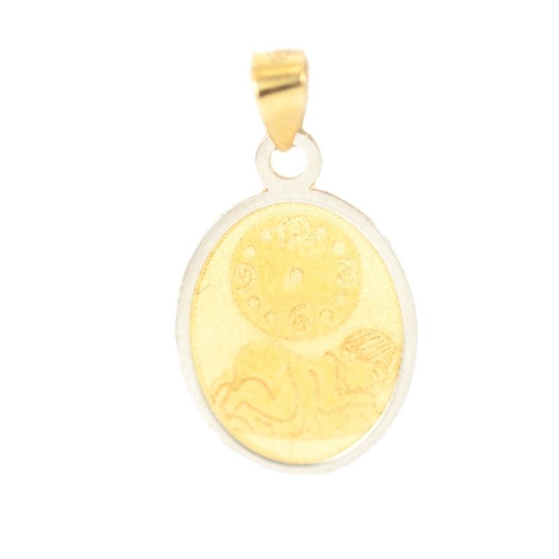 Medalla oro bicolor bebé