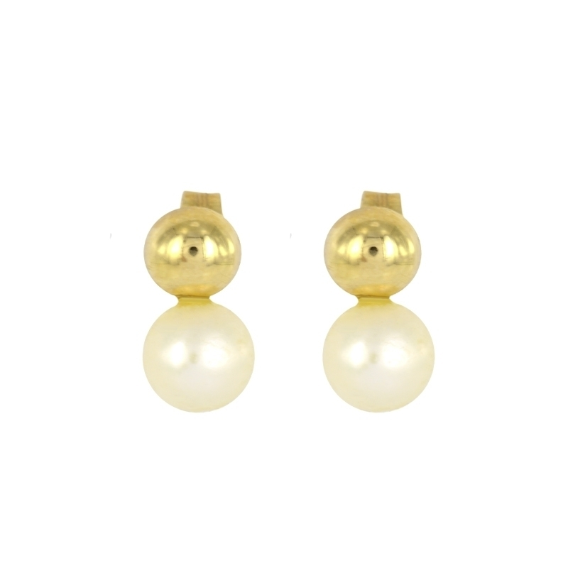 Pendientes Oro Amarillo 18K perlas – Primera Comunión.