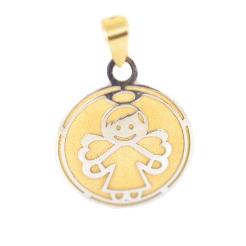 Colgante oro bicolor Ángel