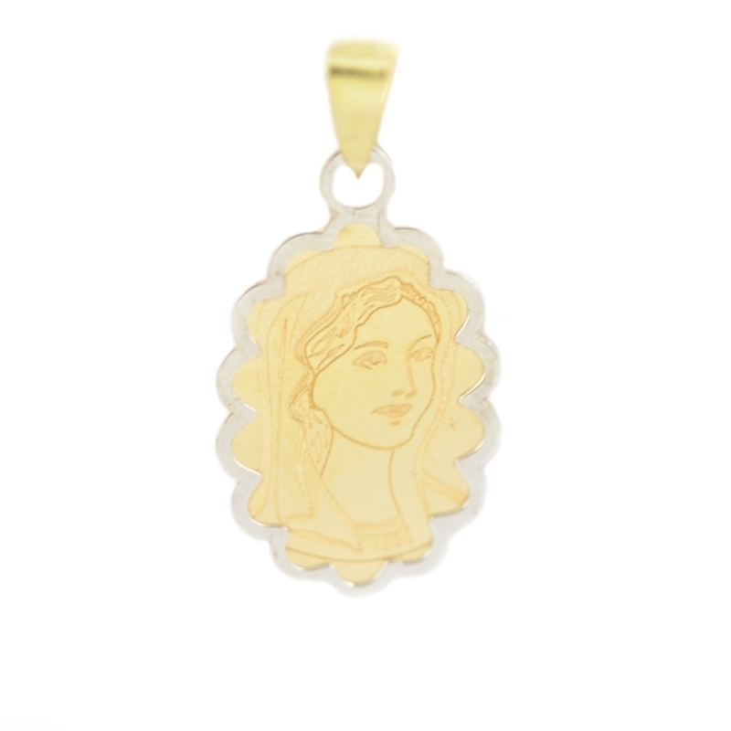 Medalla oro bicolor niña