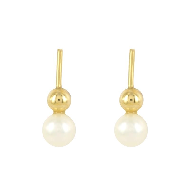 Pendientes oro 18k con perla