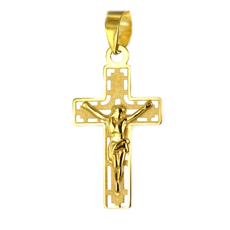 Cruz Oro Amarillo 18K – Comunión