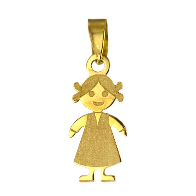 Colgante oro niña