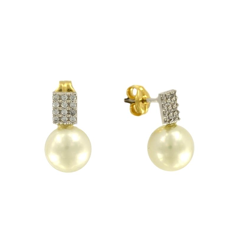 Pendiente Oro Amarillo 18K perla