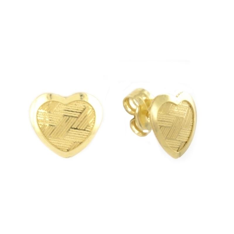 Pendiente Oro amarillo 18K Corazón
