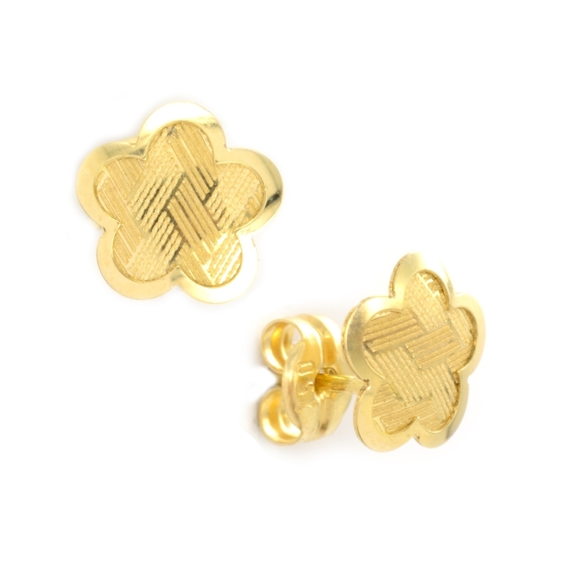 Pendiente Oro amarillo 18K Flor