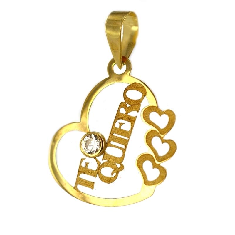 Colgante oro enamorados