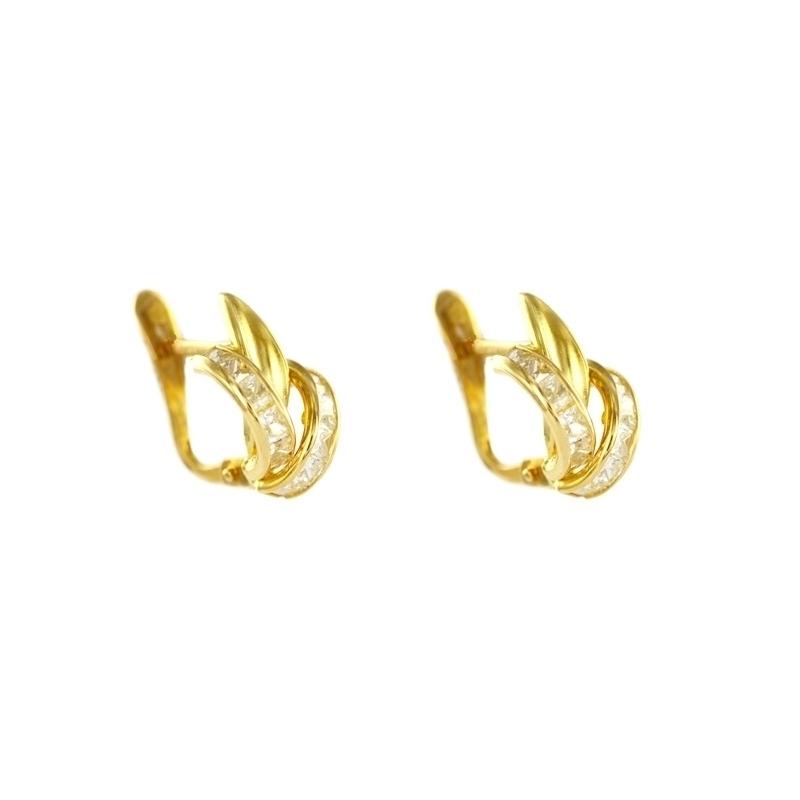 Pendiente Oro Amarillo 18K Circonitas