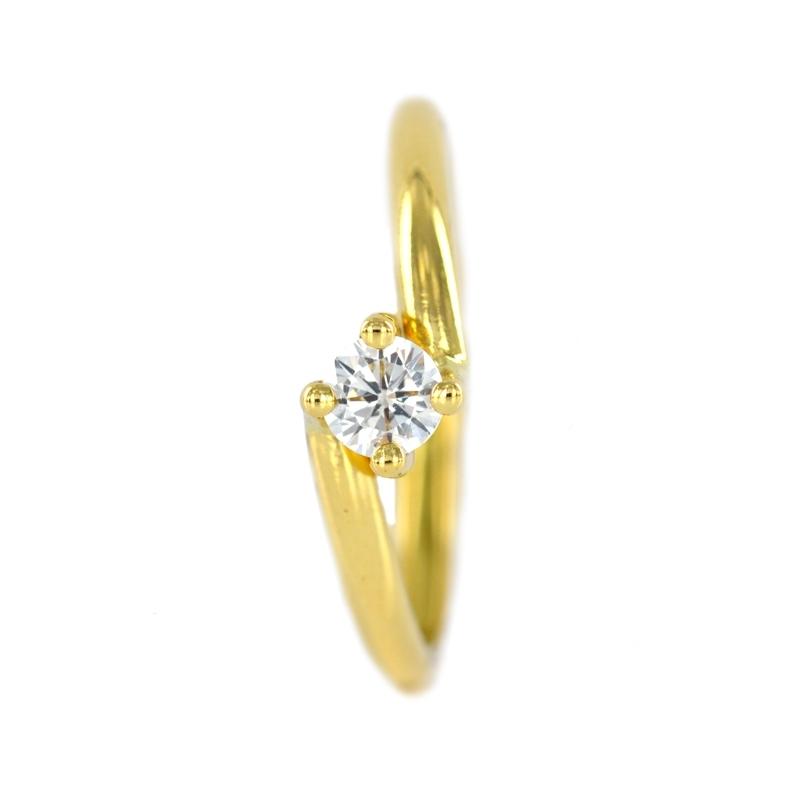 Anillo oro oro amarillo circonita